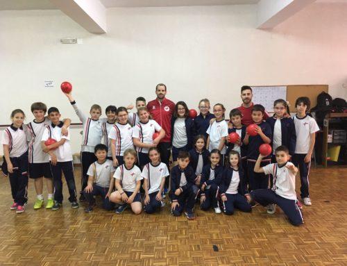 Gran Clinic de Balonmano con Amadeo Sorli en nuestro colegio