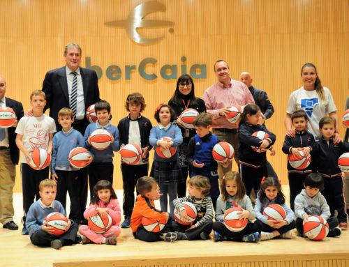 La Escuela de Baloncesto en la clausura de la Liga Escuelas Ibercaja
